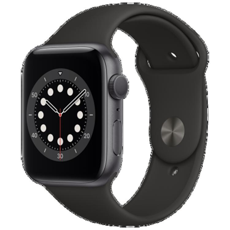 صورة Apple watch series 6 GPS 40mm Space Grey Case Black Sport Band